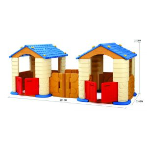 CASA PLAY HOUSE DOBLE TECHO AZUL