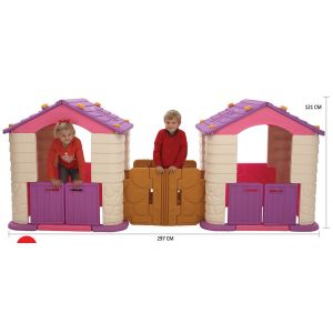 CASA PLAY HOUSE DOBLE TECHO ROSADO