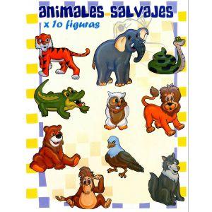 "COLECCIÓN KANGURITOS ""ANIMALES SALVAJES"" X 10"