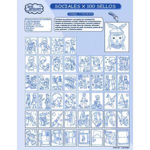 SOCIALES x 100 sellos