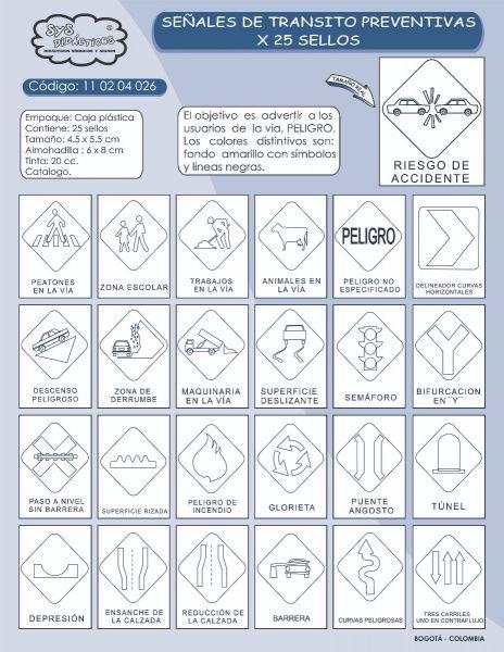 Señales De Tránsito Preventivas X 25